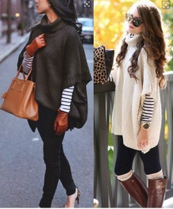 Image of FASHION BAT SLEEVE SWEATER