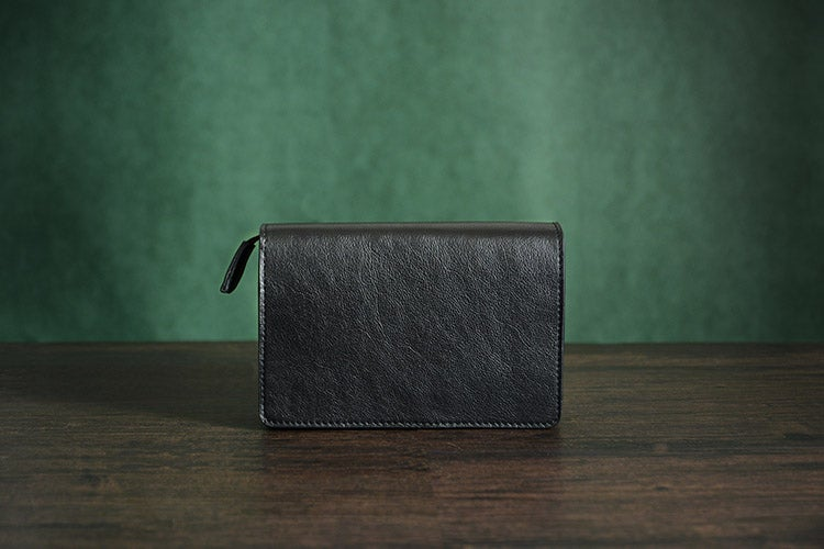 Image of Mens' Vintage Genuine Leather Clutch Purse Men Business Clutch Hand Bag Cowhide Wallet