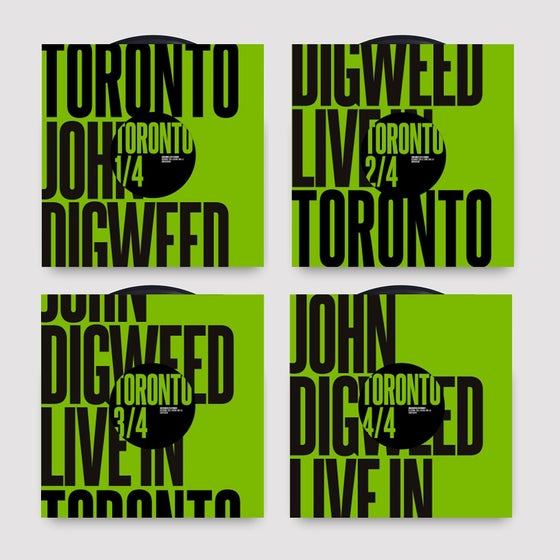"Image of John Digweed Live in Toronto 4x12"" Limited Edition 12' Vinyl"