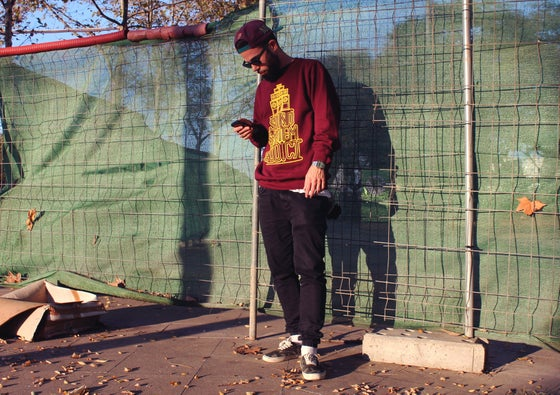 Image of Soundsystem Addict: Sweatshirt burgundy