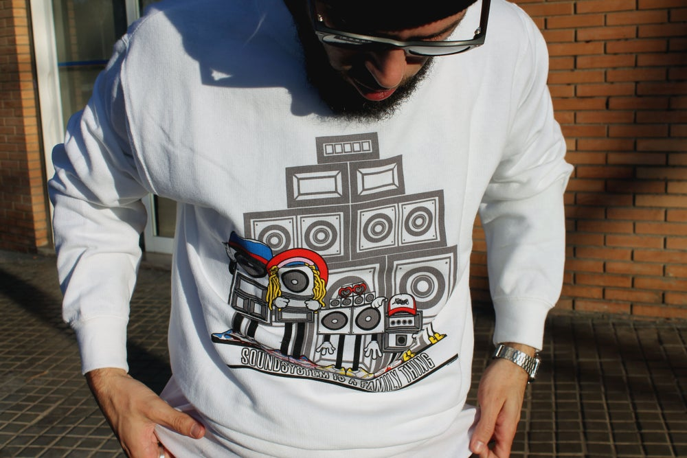 Image of Family Thing: Sweatshirt white/ multicolor