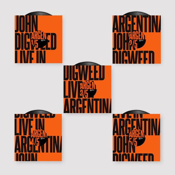 "Image of John Digweed Live in Argentina 5x12"" Limited Edition Vinyl"