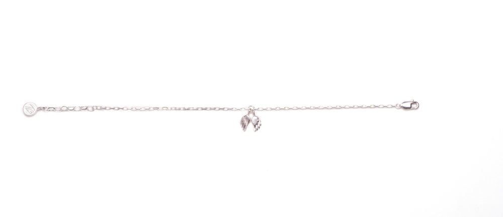 Image of Angel Wing Chain Bracelet - Sterling Silver
