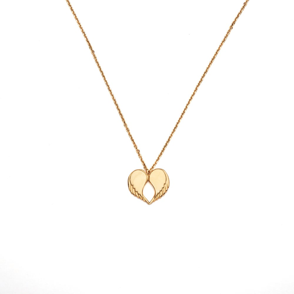 "Image of COMING SOON Angel Love Pendant - LONG 18ct Yellow Gold Plated 30"" Chain"