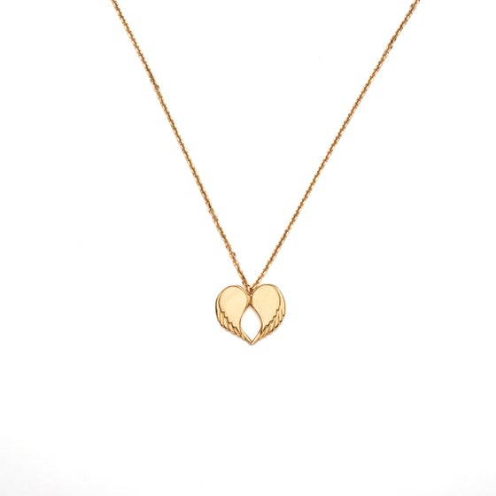 """Image of Angel Love Pendant - LONG 18ct Yellow Gold Plated 30"""" Chain"""