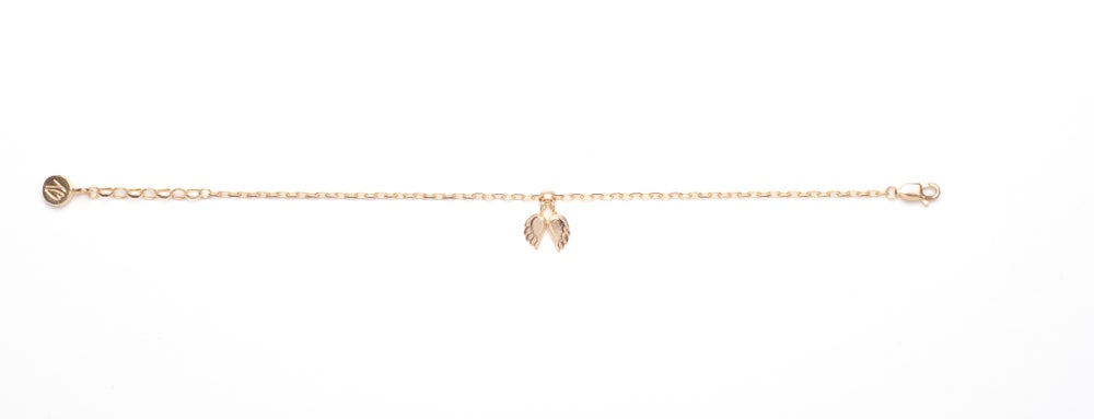 Image of Angel Wing Chain Bracelet - 18ct Gold Plated