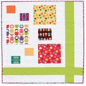 Image of hopscotch and ribbons baby quilt