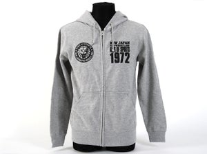 Image of NJPW Full Zip Up Grey Hoodie
