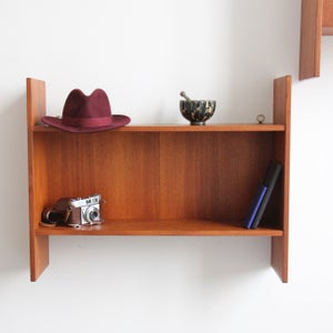 Image of A par of Danish mid century shelves