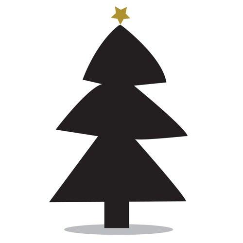 Image of Vinilo Navidad Pizarra árbol navidad