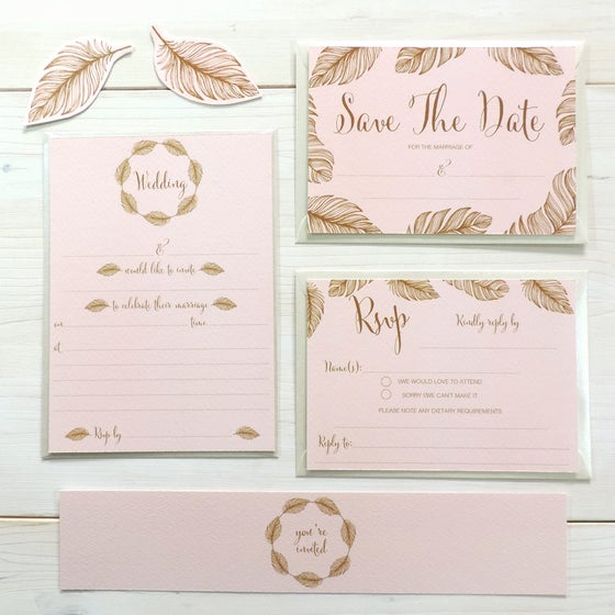Image of Tickled Pink 'Write Your Own' Wedding Range