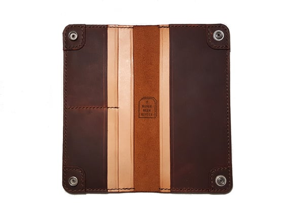 Image of Bloodbuzz - Long Wallet - Sunburst Oil Tan