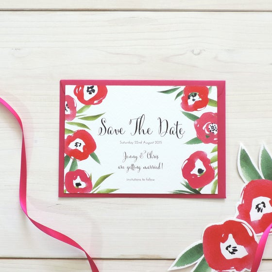 Image of Passion Bloom Bespoke Save The Date