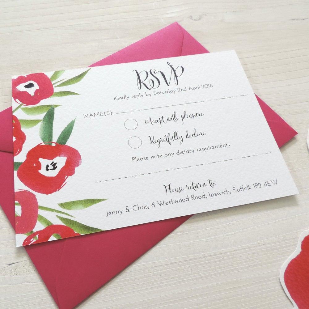 Image of Passion Bloom Bespoke Wedding Invitation and RSVP Bundle