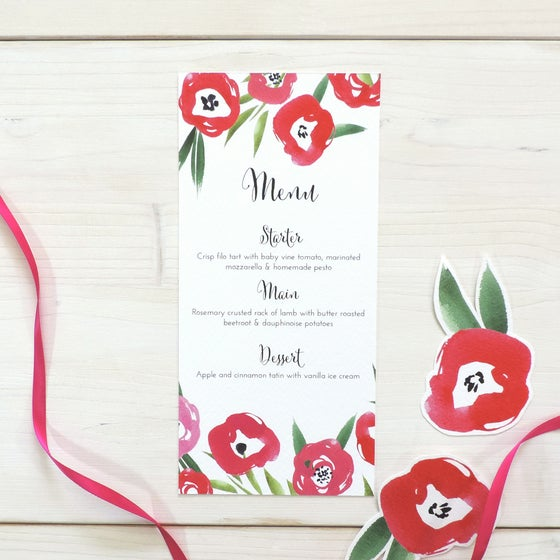 Image of Passion Bloom Wedding Menu