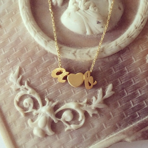 Image of Script Love Letter Necklace