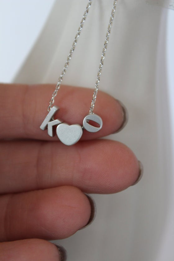 Image of Lower Case Love Letter Necklace