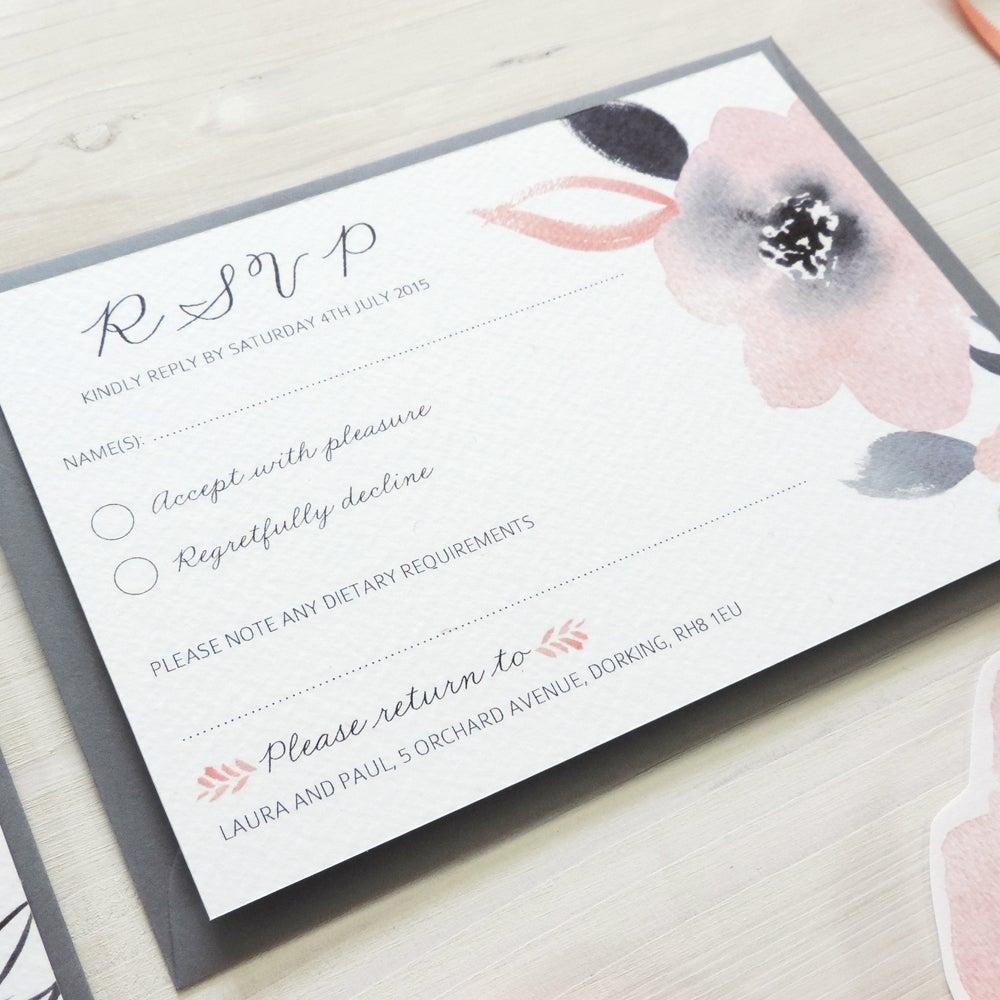 Image of Sweet Posey Bespoke Wedding Invitation and RSVP