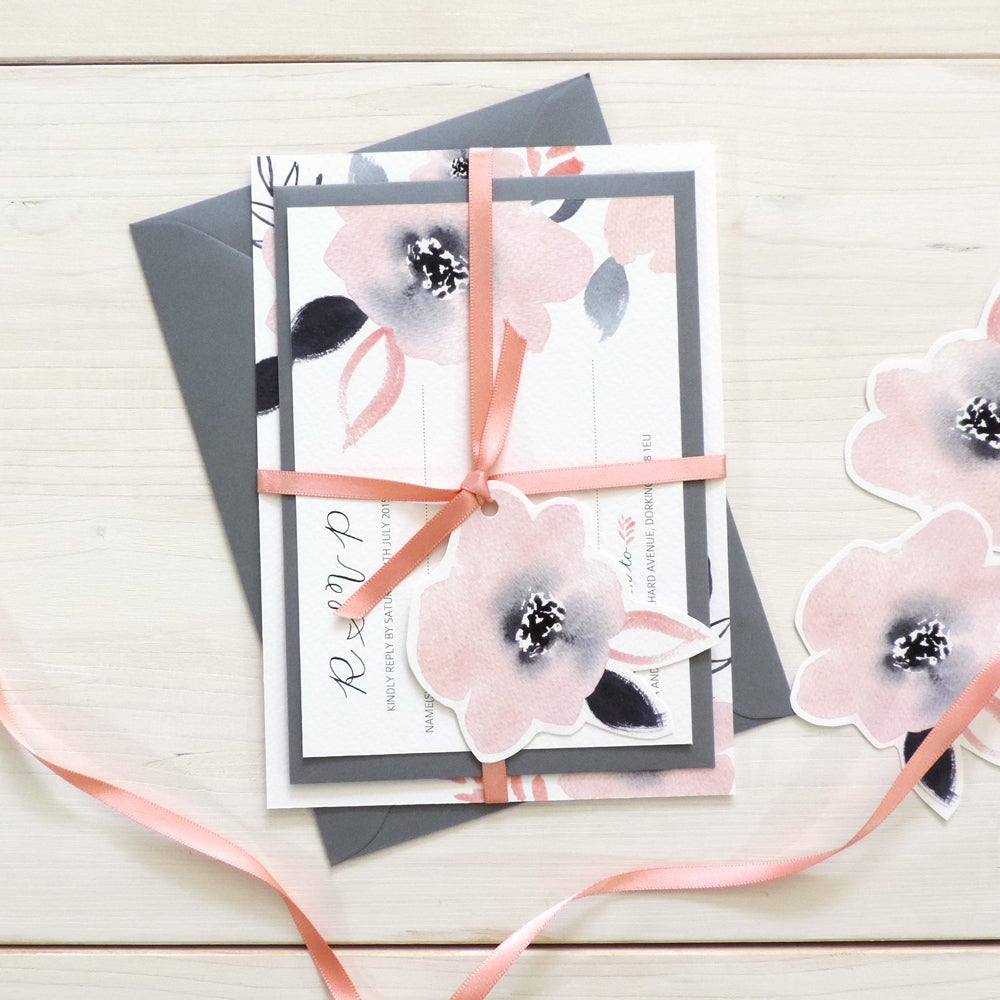 Image of Sweet Posey Bespoke Wedding Invitation and RSVP Bundle