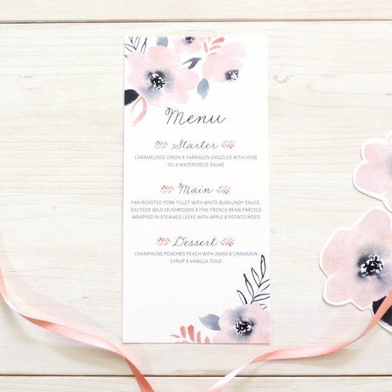 Image of Sweet Posey Wedding Menu