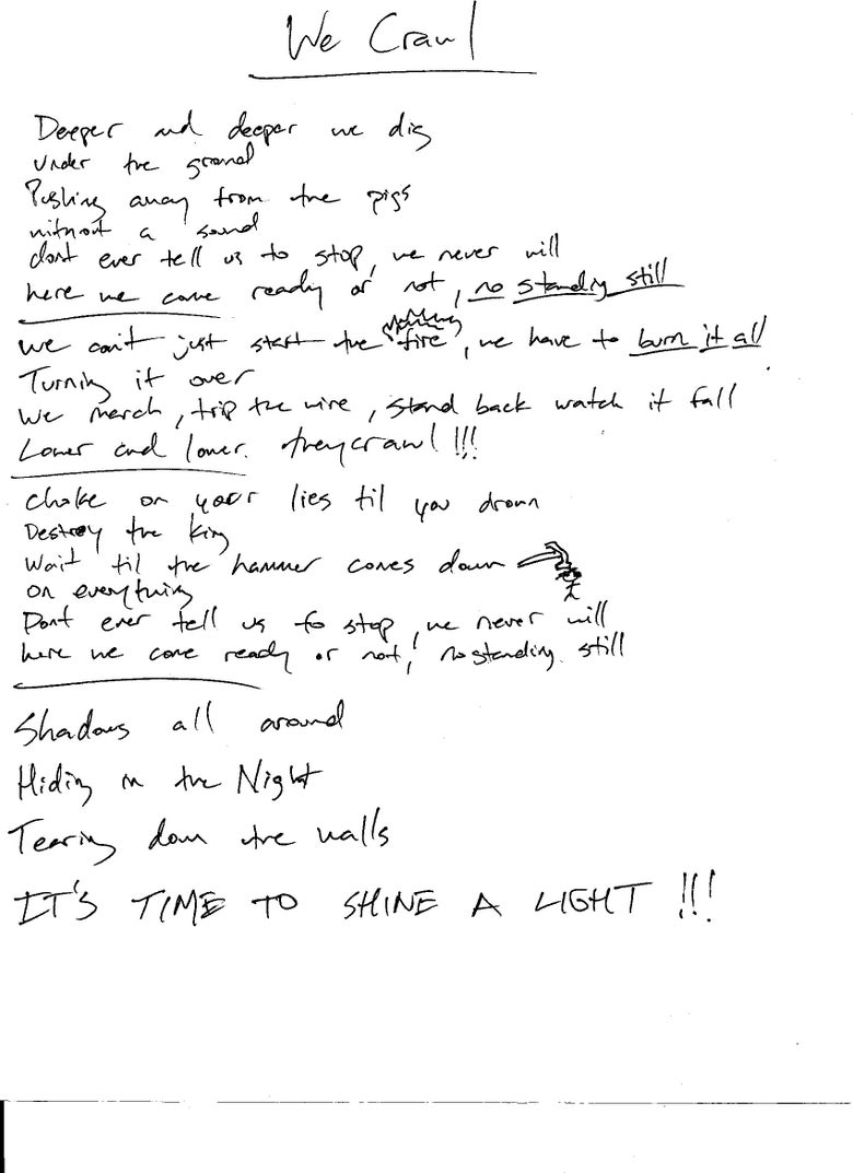 Image of Handwritten Lyric Sheet + CD Bundle