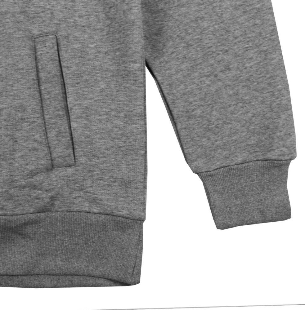 Image of Bowl N' Cross Long Line Hoodie (Grey)