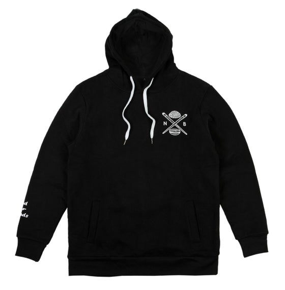 Image of Bowl N' Cross Long Line Hoodie (Black)