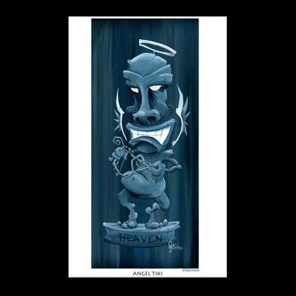 Image of Angel Tiki Art Print
