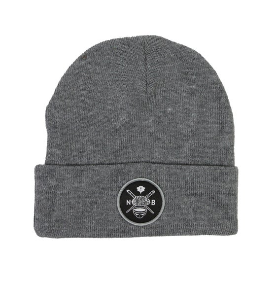 Image of Evil Crest Beanie (Grey)