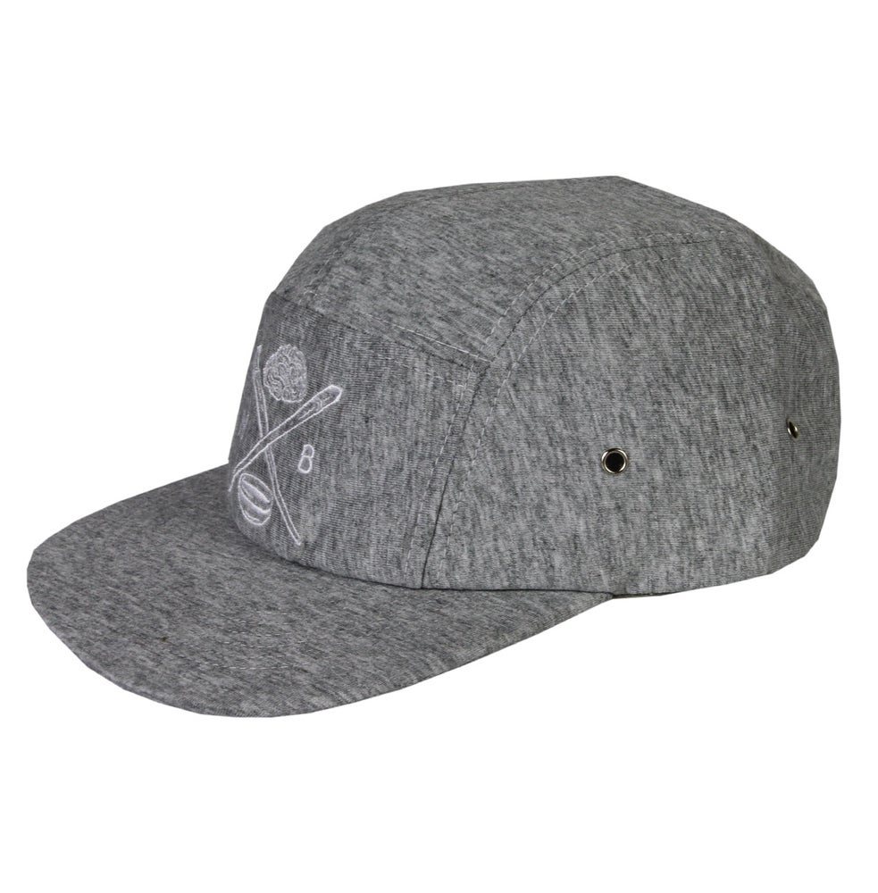 Image of Chop Sticks Tee Cotton 5 Panel Cap (Grey)