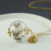 Image of Icarus - Personalised Feather Orb Necklace