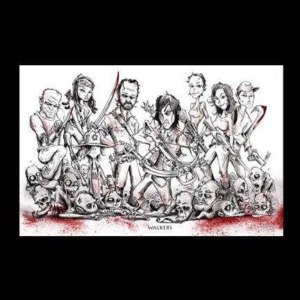 Image of Walkers Black and White Art Print