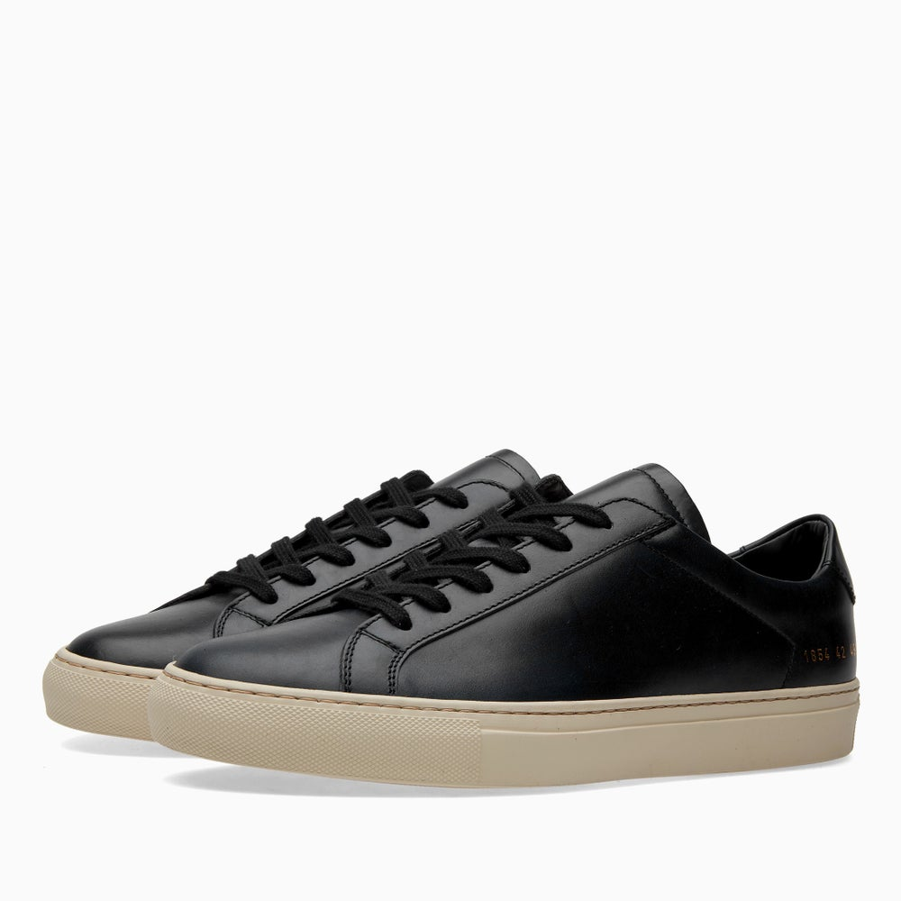 Image of Common Projects Achilles Vintage Low - BLACK