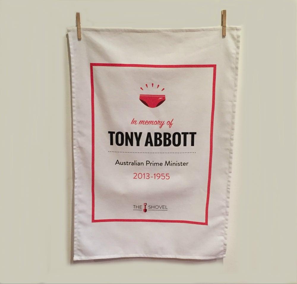 "Image of Tony Abbott Memorial Tea Towel: ""PM 2013-1955"""