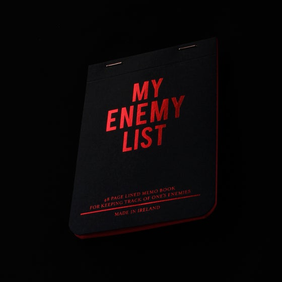 Image of MY ENEMY LIST - notebook