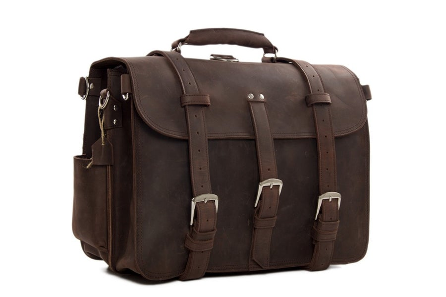 Image of Super Large Multi-Use Leather Travel Bag, Duffle Bag, Leather Backpack 7072