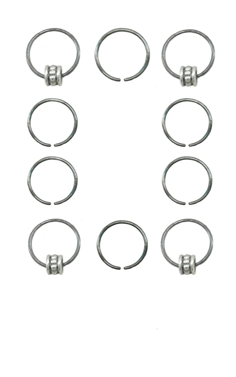 Image of Dillon Hair Rings Gunmetal