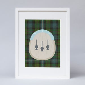 Image of Personalised tartan kilt print