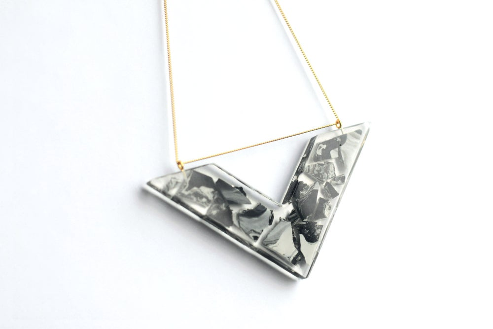Image of Valour Necklace Black Marble