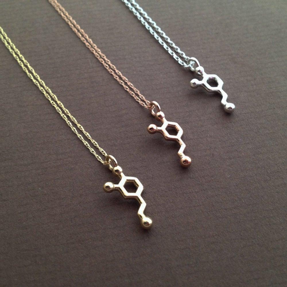 Image of tiny dopamine necklace