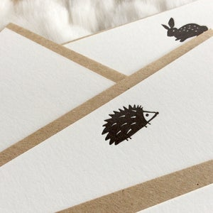 Image of Letterpress note cards - Set of 5 Creatures