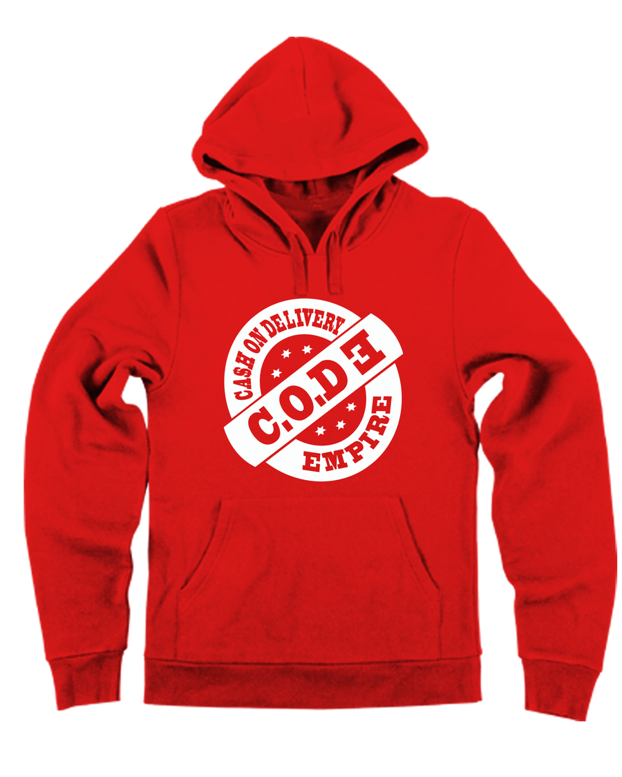 Image of Red/White CODE Hoodie