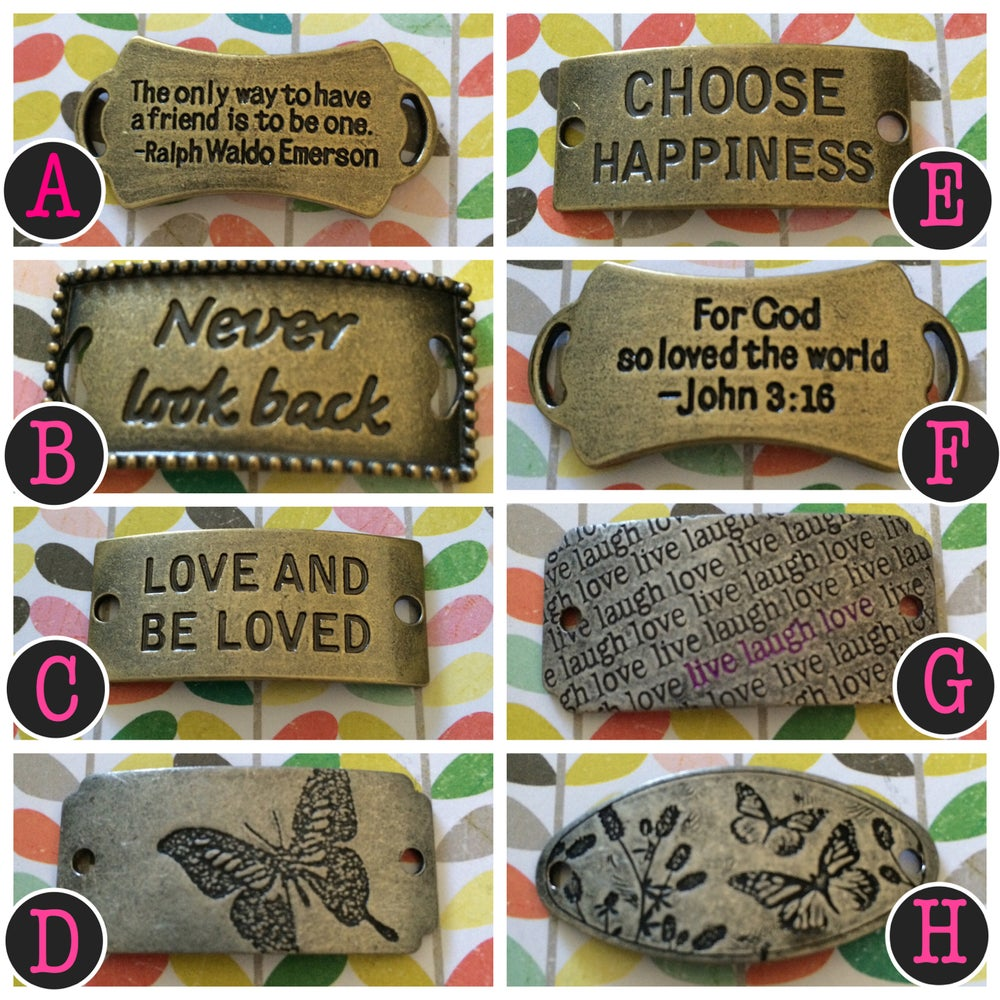 Image of Metal Word Charms