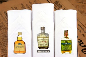 Image of Set of III men's Hankies: Whiskey