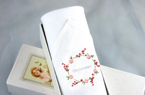 Image of Lady's handkerchief Christmas wreath