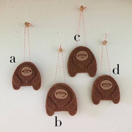 Image of sasquatch ornaments! (made to order)