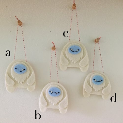 Image of yeti ornaments! (made-to-order)