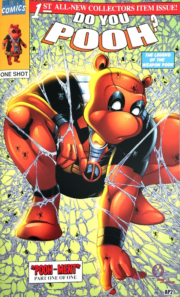 Image of Do You Pooh? #1 Todd McFarlane's Spider-Man Homage Color Variant by Marat Mychaels (Artist Proof)