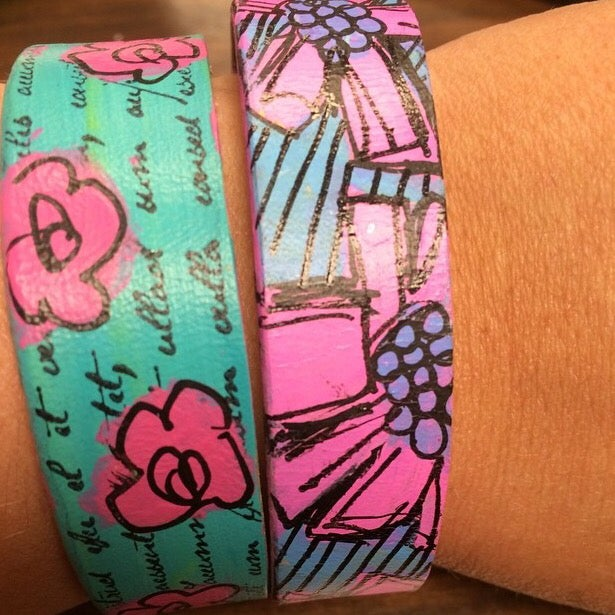 Image of Painted Skinny Cuffs