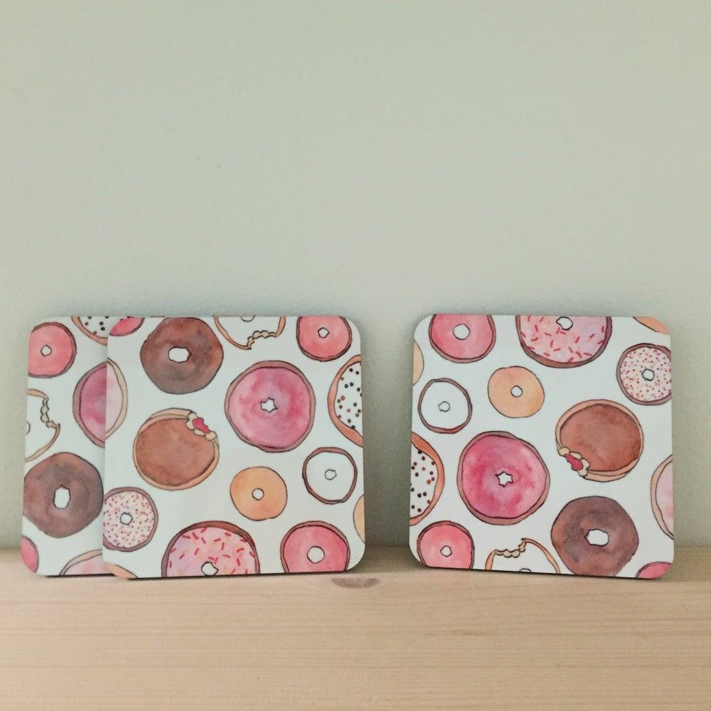 Image of donut coasters